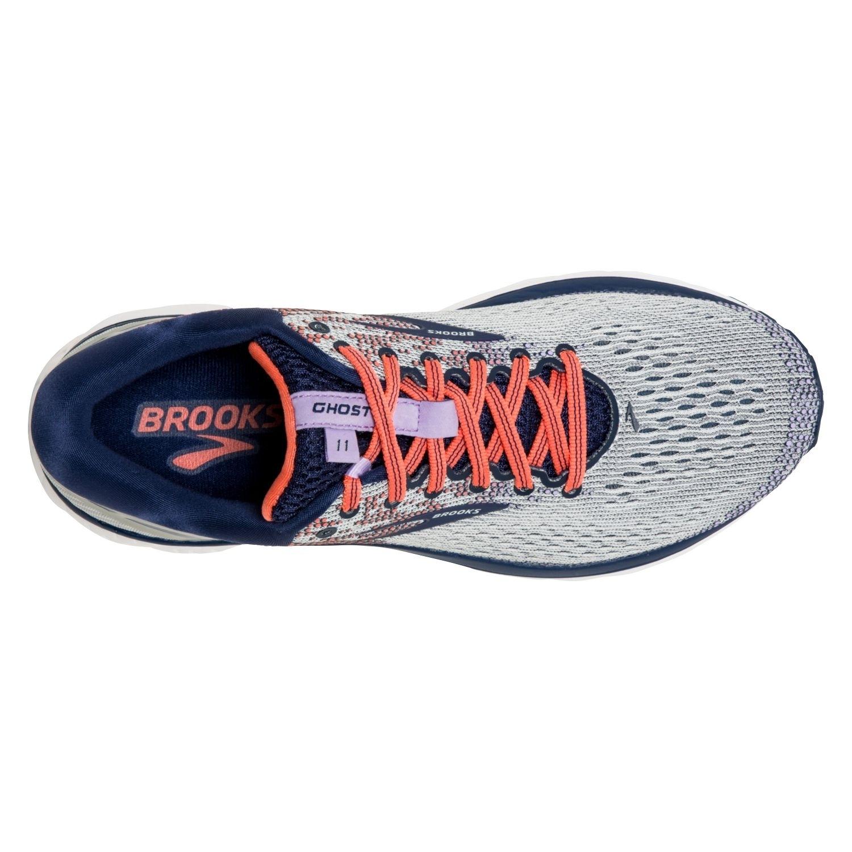 Details zu Brooks GHOST 11 Damen Laufschuh GreyBlueCoral